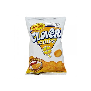 Leslies Clover Chips Chilli & Chesse 85g
