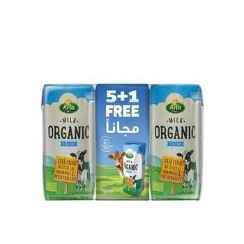 Arla Organic Milk 6x200ml