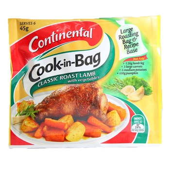 Continental Cook In The Bag Classic Roast Lamb With Vegetables 45g