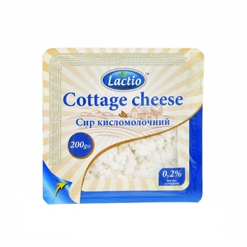 Lactio Cottage Cheese, Low Fat Tm 200g