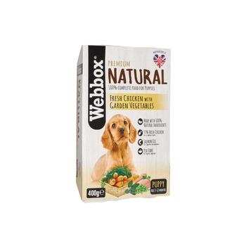 Webbox Natural Dog Food Sleeve Chicken/Garden Veg Puppy 400g