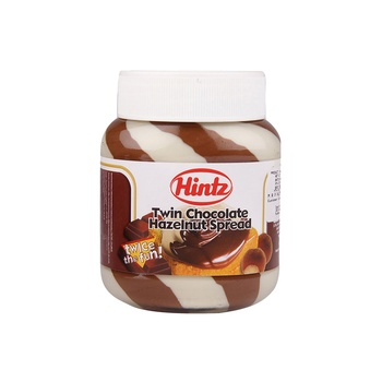 Hintz Tricolor Choc Hazelnut Spread 400g