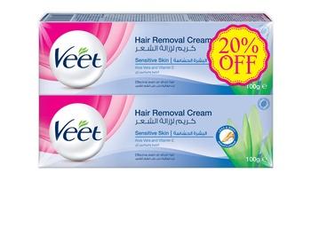Veet Cream Sensitive 2 x 100 ml 20% Off