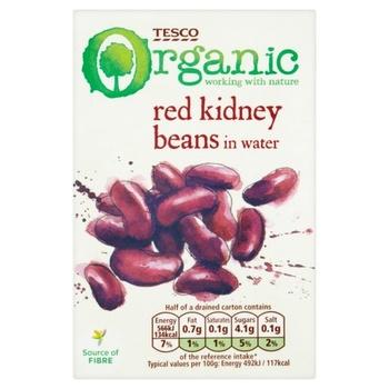 Tesco Organic Red Kidney Beans 380g