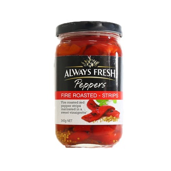 Always Fresh Peppers Fire Roasted Strips 340g
