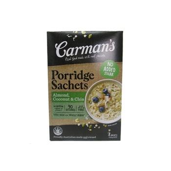 Carman'S Porridge Sachets  Almond, Coconut & Chia 320g