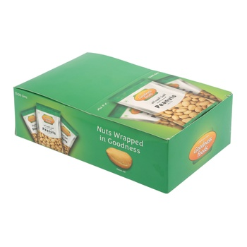 Goodness Foods Peanut Salted 12X20g (Twin Pack)