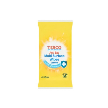 Tesco Citrus Antibacterial Wipes 40 Wipes