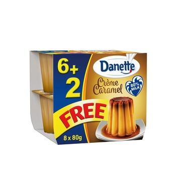 Danette Cream Caramel 80gm Pack of 8