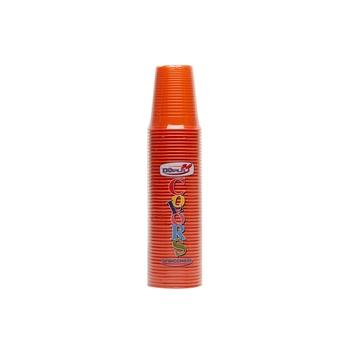 Dopla Disposables Color Line Cups 50 pcs x 200 cc Orange (02543)
