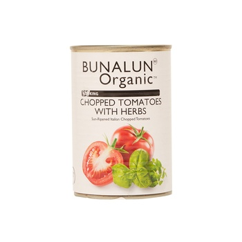 Bunalun Organic Cooking Chopped Tomatoes with Herbs 400g