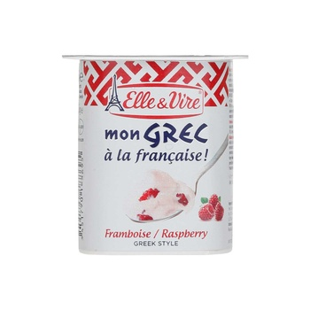 Elle & Vire Greek Yoghurt Raspberry 125g