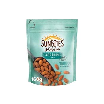 Sunbites Salted Almonds 160g