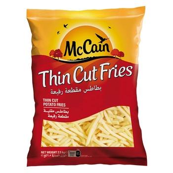 Mccain thin cut french fries 2.5kg