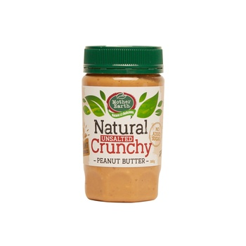 Mother Earth Peanut Butter Crunchy Natural 380G (No Sugar Added)