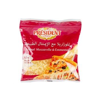 President Shredded Emmental and Mozzarella 450G