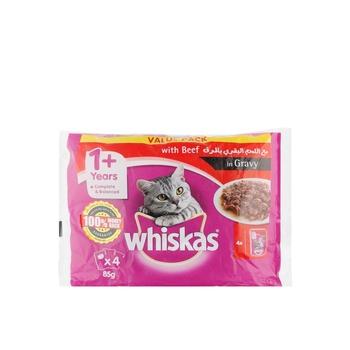 Whiskas Beef Pouch 4x85g
