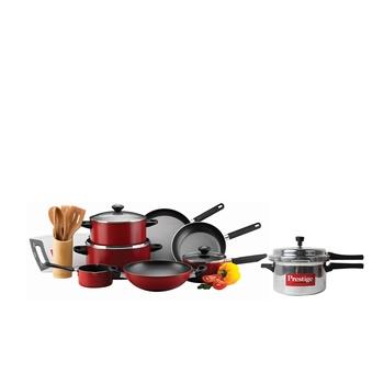 Prestige Cookware Set 16 Pcs + Pressure Cooker 4litre