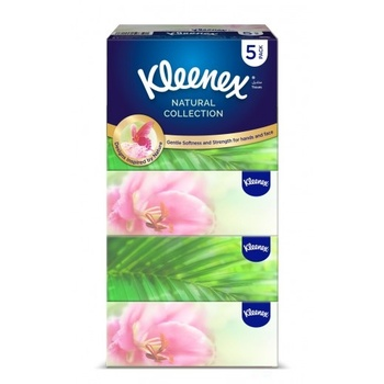 Kleenex Natural Collection 5 x 170 Sheet x 2 Ply White Facial Tissue