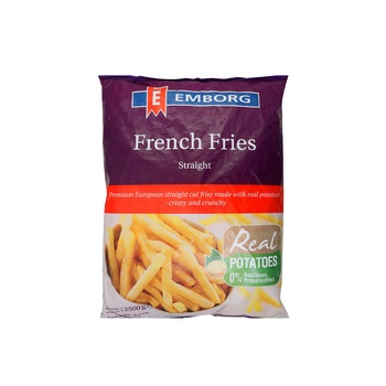 Emborg French Fries Straight Cut  2.5kg