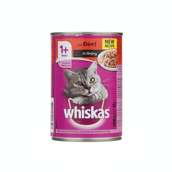 Whiskas Mince Beef Wet Cat Food Can 400g