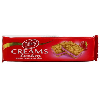 Tiffany Biscuits Strawberry Cream 70g