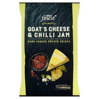 Tesco Finest Goat Cheese & Chili Crisps 150g