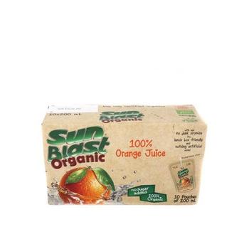 Sun Blast Organic Orange Juice 10 x 200ml