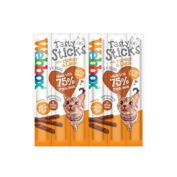 Webbox Cat Treat Tasty Sticks Turkey & Lamb 30g (6 Pcs)