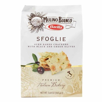 Barilla Sfoglie Cracker with Black & Green Olives 160g