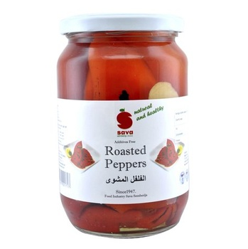 Sava Red Fillet Roasted Peppers 720ml