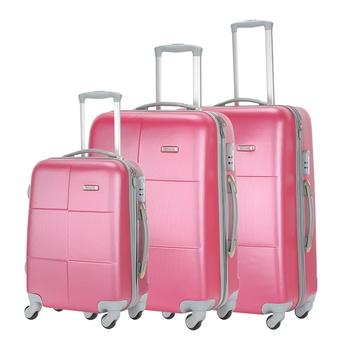 Voyager Trolley  Pink -3 Pcs Set