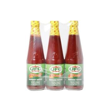 Ufc Banana Sauce Regular 550g Pack Of 3