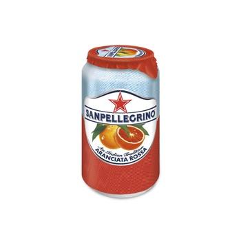 Sanpellegrino Sparkling Fruit Beverage Aranciata Rossa/Blood Orange Can 330ml
