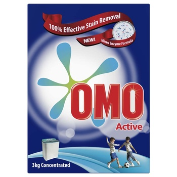 Omo Active Washing Powder Top Load 3kg