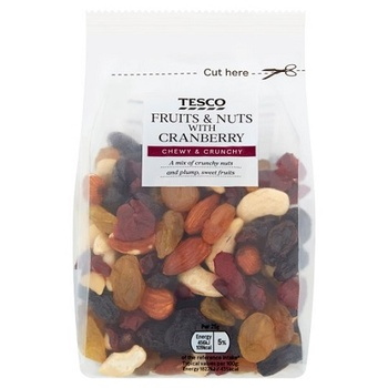 Tesco Whole Foods Fruit & Nut Mix With Cranberry 300g