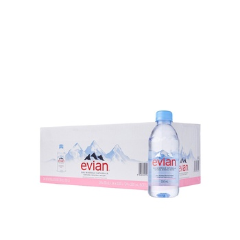 Evian Prestige Natural Mineral Water 24x330ml