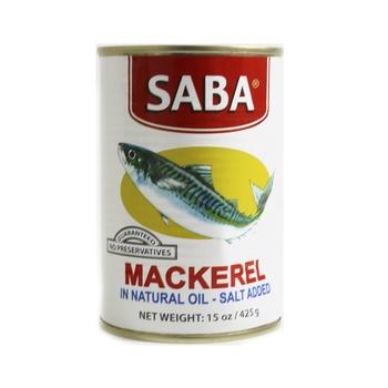 Saba Mackerel Natural Oil 425g