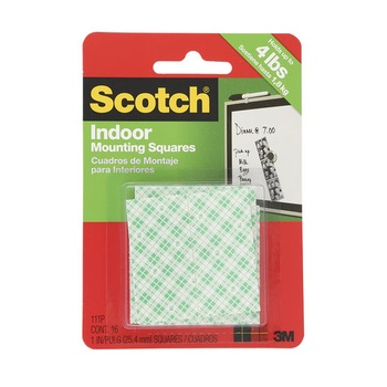 3M Scotch Heavy Duty Mounting Squares - 1 inch X 1 inch