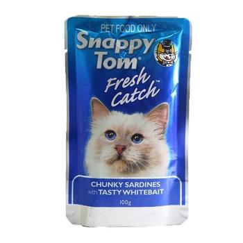 Snappy Tom Chunky Sardines With Tasty White Bait 100g