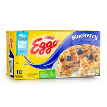 Eggo Waffles Blueberry 12.3 Oz