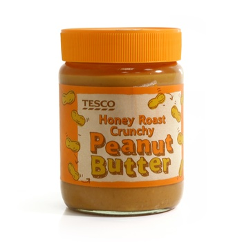 Tesco Honey Roast Crunchy Peanut Butter 340g