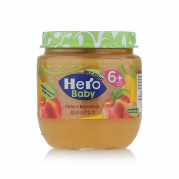 Hero Baby Food Peach Banana 130g