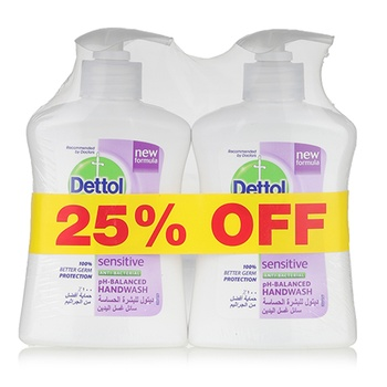 Dettol Sensitive Handwash 2 x 200 ml @ 25% Off