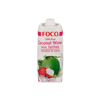 Foco Coconut Water With Lychee 500ml
