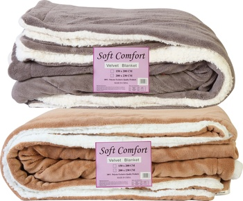 Flannel Blanket 2 Ply Double Assorted Color