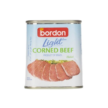 Bordon Light Corned Beef Reduced Fat (Halal) 340g