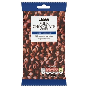 Tesco Milk Chocolate Chips 100G