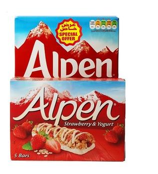 Alpen Muesli Cereal 625g + Alpen Light Bars Summer fruits 5 X 29g