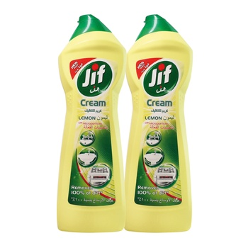 Jif Cream Cleaner Lemon 2 X 500 ml  6% Off